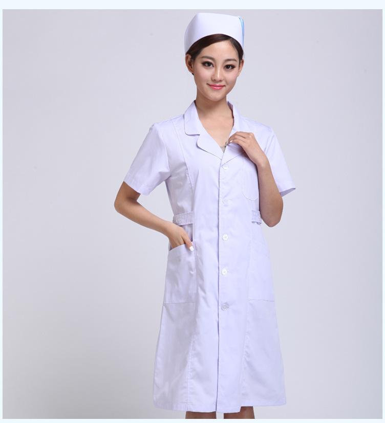 护士服夏装白色葫芦领\工作服 厂家