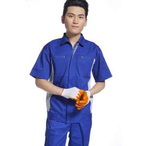 厂家直销厂服工作服工程汽修夏季短袖多口袋纯棉工作服套装