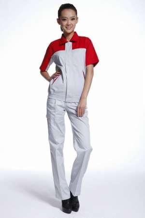 工作服定做 厂服套装 短袖工衣 短袖款纯棉耐磨批发