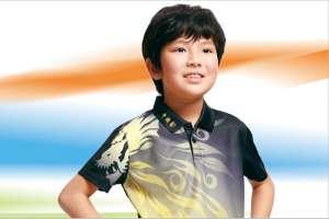 儿童羽毛球服套装男童女童乒乓球服网球服短袖速干运动服