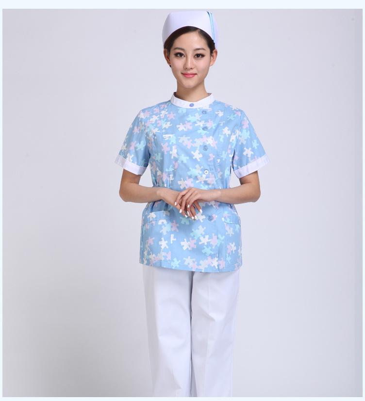 护士服夏装分体兰花新款护士服批发定做厂家定制