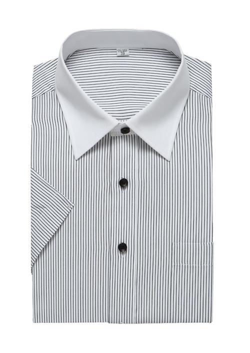 黑条纹衬衫
